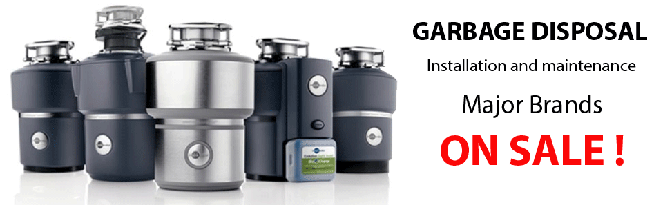 Garbage Disposal Installation and Repair, All Major Brands on Sale